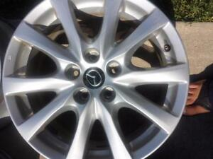 TWO RIMS ONLYMAZDA CX5 FACTORY OEM 17 INCH ALLOY RIM SET OF TWO