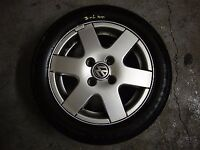 "VW POLO 1.4 TDI 2001 14"" ALLOY WHEEL WITH TYRE, TYRE TREAD DEPTH 7-6mm"
