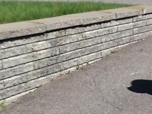 Murets et couronnement Pisa gris granite à vendre