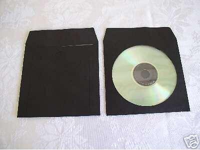 1000 New Black Paper Cd Sleeve Wwindow