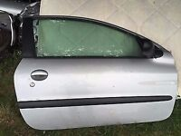 front drivers side door for a 02 Peugeot 206
