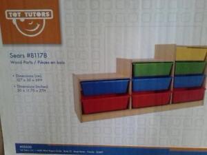 3 Tutor Tots Wood Storage Units
