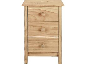 Scandinavian solid pine bedside cabinet