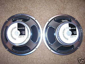 Pair of Celestion G12T-75 8 Ohm Speakers