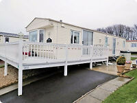 £195..Caravan for Hire, Craig Tara, Ayrshire. Beach Area with veranda, patio furniture