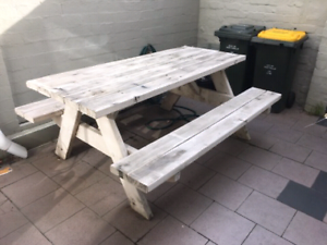 Solid timber picnic table St Kilda Port Phillip Preview