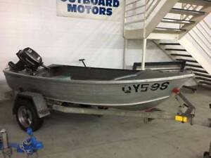 Stacer Gourame 9.9hp Tohatsu Outboard Motor Trailer Package Blair Athol Port Adelaide Area Preview