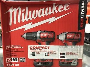 Brand New Milwaukee Compact Drill and Impact Driver Combo Kit