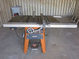 EXC CONDITION TS3660 RIDGID WHOLE CAST IRON TABLE CONTRACTOR SAW