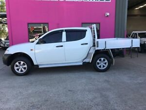 2009 Mitsubishi Triton ML MY09 GLX Double Cab White 4 Speed Automatic Utility Rocklea Brisbane South West Preview