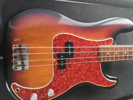 1983 FENDER Fullerton AVRI '62 Reissue Precision Bass. Vintage.
