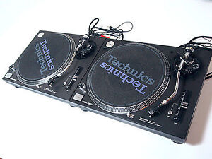 Pair of Technics 1200 Turntables