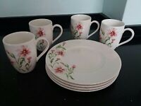 """New Villeroy & Boch """"Louisa"""" First Quality plates and mugs x 4"""