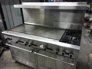 Restaurant Equipment - Garland thermostatic griddle with oven