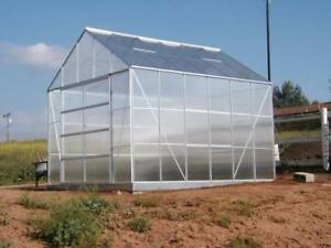 NEW 8X10 POLYCARBONATE GREENHOUSE GREEN HOUSE GROWING OUTDOOR GARDENING GARDEN