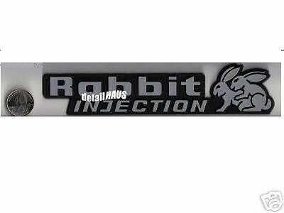 SILVER RABBIT INJECTION BADGE HUMPING BUNNY EMBLEM  - VW RABBIT GOLF GTI SHIP $0 for sale  Boston