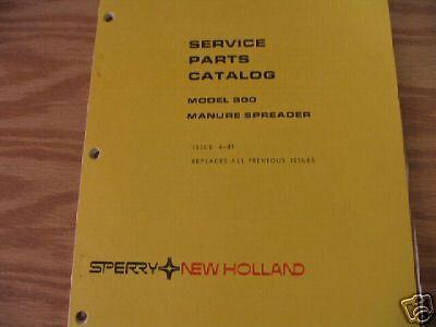 New Holland 800 Manure Spreader Parts Catalog