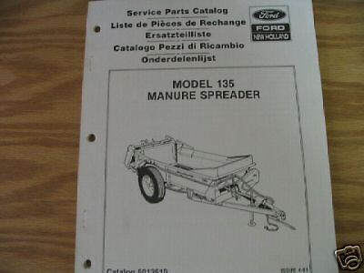 New Holland 135 Manure Spreader Parts Catalog Used