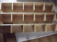 3 x IKEA BENNO Beech Wood CD/DVD/Book storage shelves