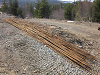 LOW PRICE STEEL REBAR 10MM- 20FT LENGHT $7,56 EA CAN BE CUT HERE