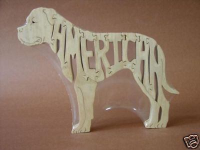 NEW American Bulldog Dog Wood Amish Made Toy Puzzle - American Made Wooden Toys