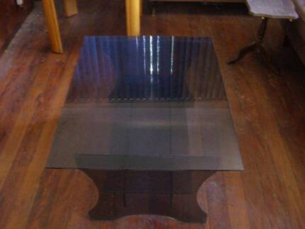 tinted glas coffee table