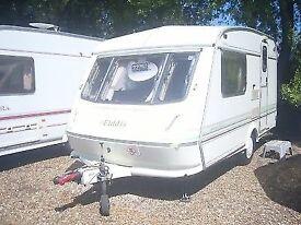 Eldiss whirlwind xl 2 birth caravan £695 ovno