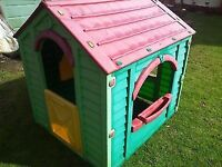 Outdoor Wendy House Pink Kids Playhouse Garden Child Toys Plastic Play Game