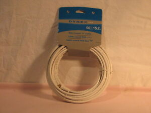 50ft coaxial cable new in package with connectors Peterborough Peterborough Area image 1