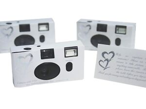 20 SILVER HEART Wedding Disposable CAMERA Favors Party Decorations Supplies SALE