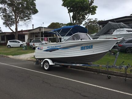 Quintrex 480Coast Runner with  80hp four strokes