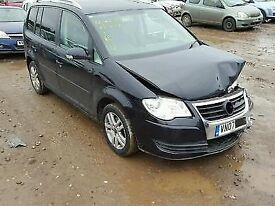 VOLKSWAGEN TOURAN SE 2007 7 SEATER - CAT D SPARES OR REPAIR