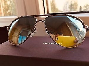 Brand new Tom Ford TF 144 sunglasses with silver mirror $230