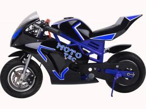 BRAND NEW 50CC PREMIUM GAS POCKET BIKE GT 2-STROKE MOTO-GP 49CC FOR KIDS! COLOURED FRAMES! 6-MONTHS WARRANTY