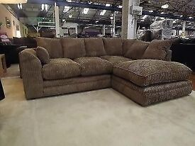 EXPRESS DELIVERY BRAND NEW DYLAN JUMBO CORD CORNER SOFA OR 3+2 ON SPECIAL OFFER WITH 1 YEAR WARRANTY