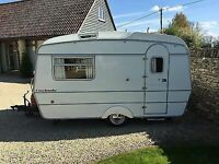 Vintage classic caravan with awning now reduced as need space
