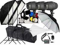 900w Flash kit Photography Studio Strobe light 3 x 300w heads P-300 Digital LED