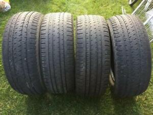 4 Bridgestone Dueler Alenza H/L - 275/55/20 - 70%+ - $140 For All 4