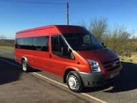 FORD TRANSIT 2009 FORD TRANSIT TRENT MINIBUS T430 TWIN AXLE 17 SEATER WITH VERY LOW MILES 36,153KMS