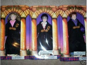 "3 HARRY POTTER + HERMIONIE + RON W. 12""  GUND DOLLS NEW IN BOX."