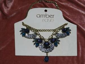 Blue stones and Diamente necklace Kootingal Tamworth City Preview