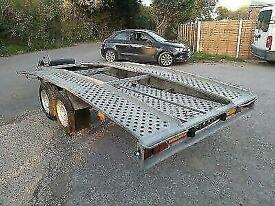 Trailer Hire. Car transport. Flatbed and transporter. With ramps and winch.