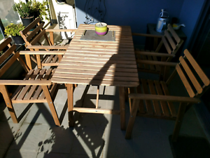 ASKHOLMEN Table + 4 chairs Rooty Hill Blacktown Area Preview