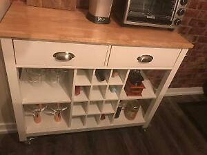 Kitchen Cart with Wine Storage (Canadian Tire)