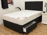 brand new 2 drawer double bed free delivery