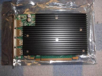 Nvidia Quadro 450 - 512mb 4 port display card brand new