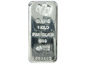 1kg PAMP SUISSE .999 Silver Bullion Bar 1 kg kilo kilogram 32.15 oz 99.9% pure