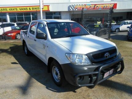 2010 Toyota Hilux TGN16R MY10 Workmate White 4 Speed Automatic Utility