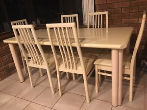 Italian dining table with 6 chairs and buffet Greenwood Joondalup Area Preview