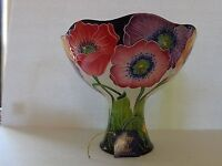 Poppy pedestal fruit bowl by Jeanette McCall/Blue Sky ICING ON THE CAKE - Brand New and boxed